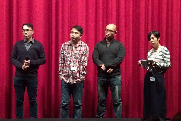 Regisseure mit Dolmetscherin