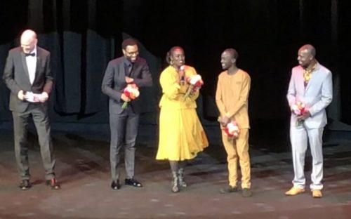 Filmteam auf der Bühne